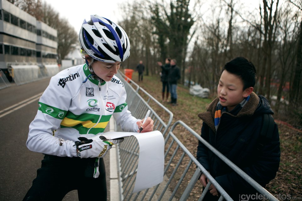 The pursuit for autographs has already started - and it's only Thrusday.