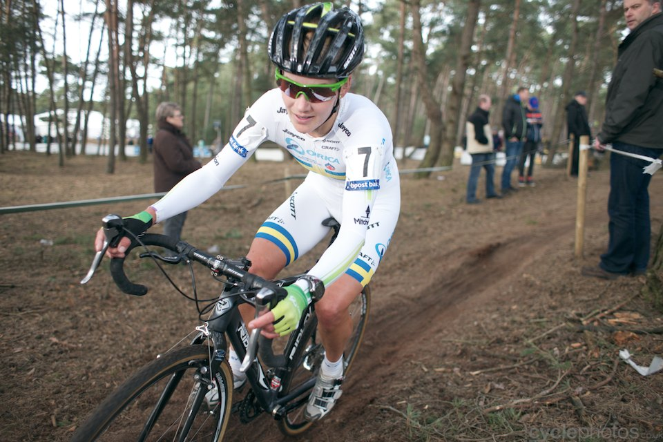 Emma Johansson. 2014 cyclocross Bpost Bank Trofee #8, Oostmalle. Copyright by cyclephotos.