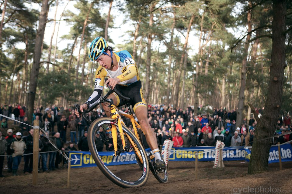 Tom Meeusen. 2014 cyclocross Bpost Bank Trofee #8, Oostmalle. Copyright by cyclephotos.