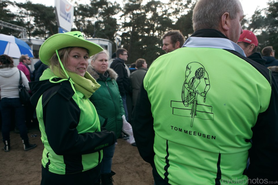 Tom Meeusen supporters. 2014 cyclocross Bpost Bank Trofee #8, Oostmalle. Copyright by cyclephotos.