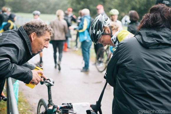 Yara Kastelijn regains composure after the Superprestige cyclocross race in Gieten, in 2014. Photo by Balint Hamvas / cyclephotos.co.uk