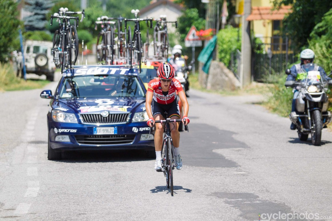 Jessie Daams during the 7th stage of the 2015 Giro Rosa