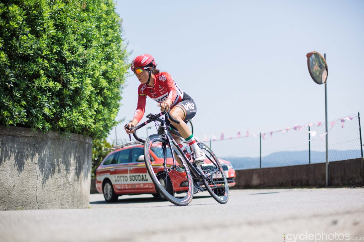Elena Cecchini during the 8th Stage of the 2015 Giro Rosa