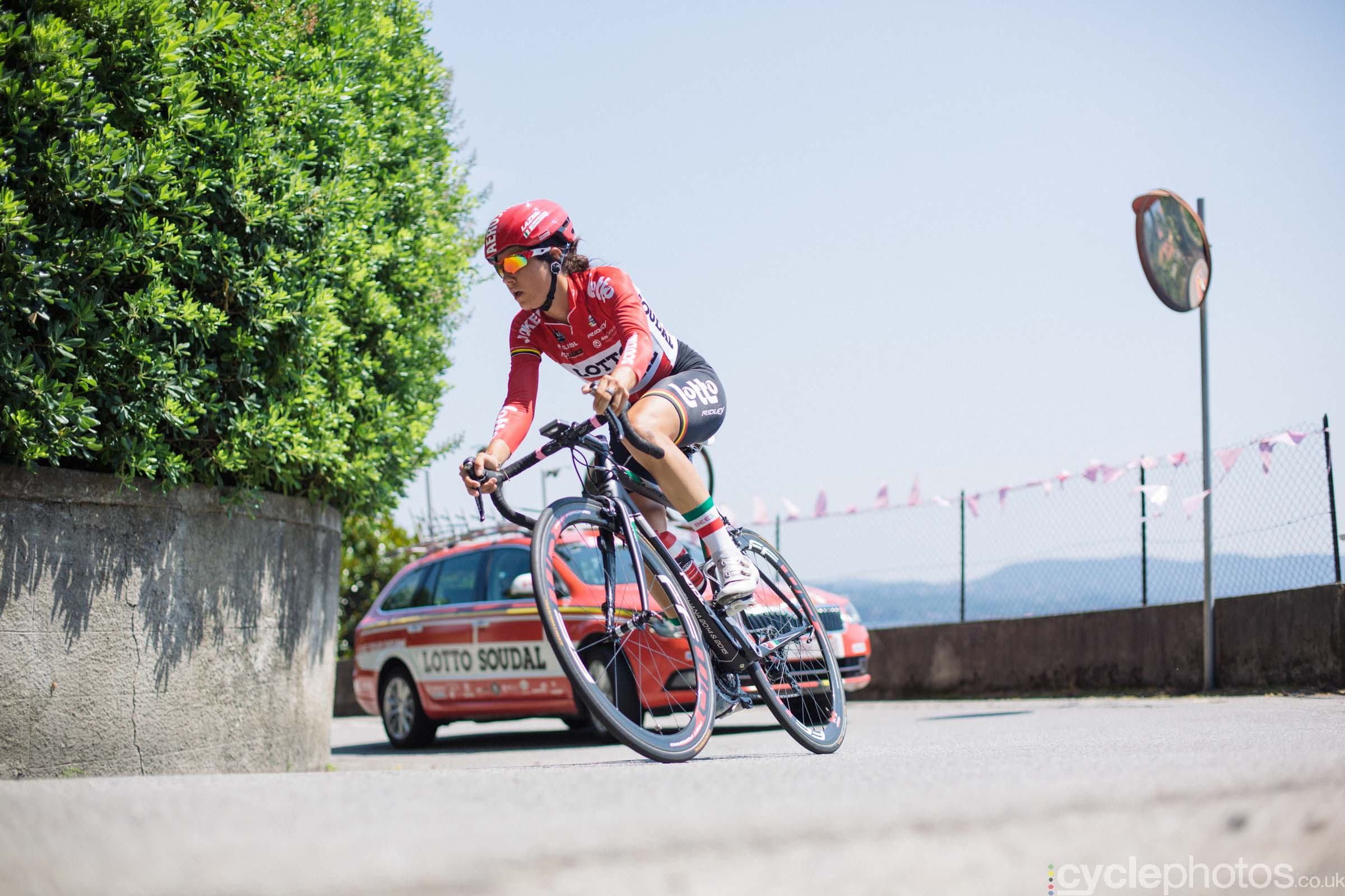 Elena Cecchini during the 8th Stage of the 2015 Giro Rosa