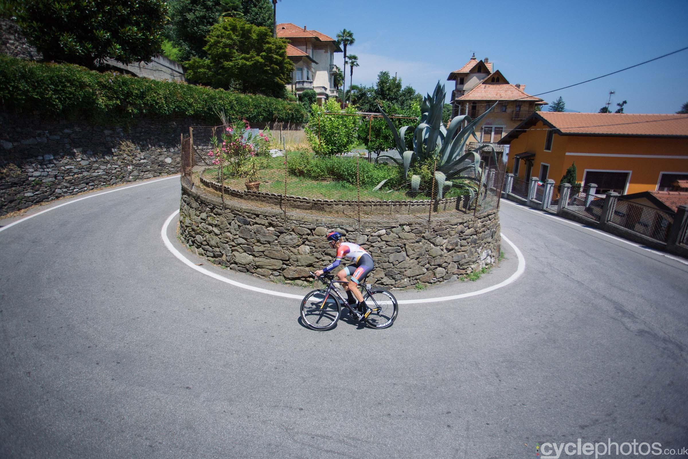 Ellen van Dijk corners during the 8th Stage of the 2015 Giro Rosa