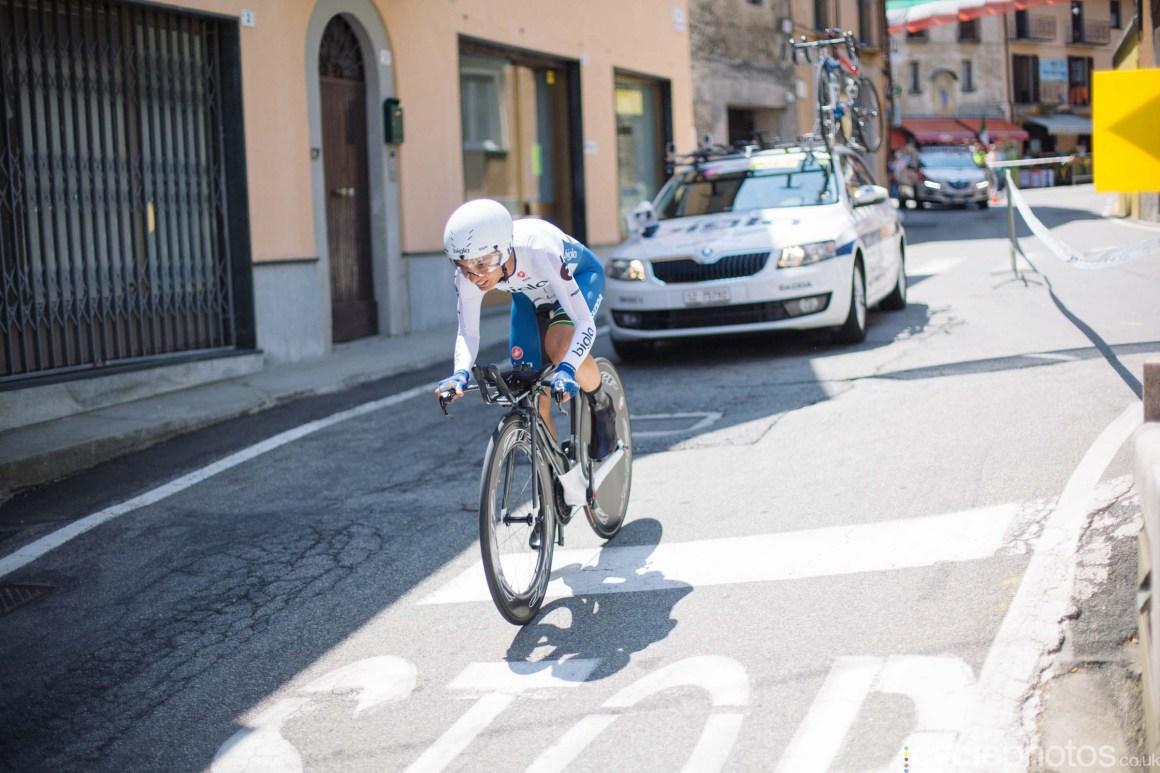 Ashleigh Moolman-Pasio during the 8th Stage of the 2015 Giro Rosa