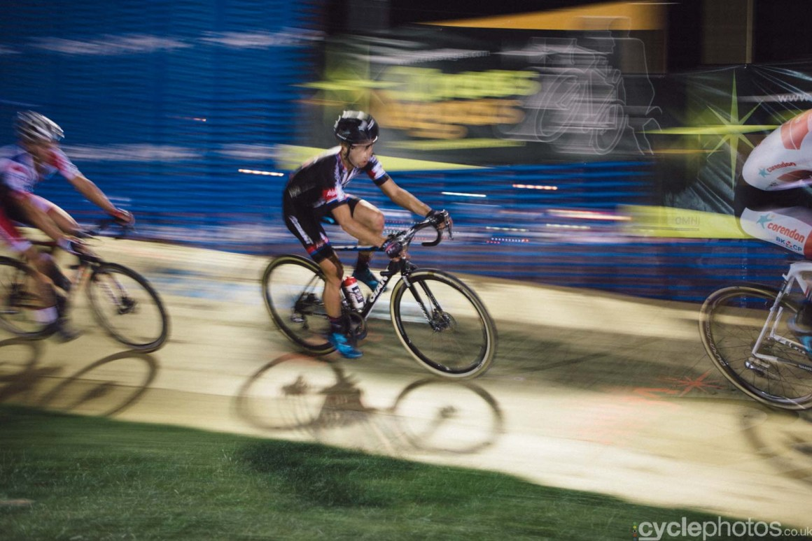Lars van der Haar during Crossvegas, the first round of the 2015 UCI Cyclocross World race in Las Vegas, USA.