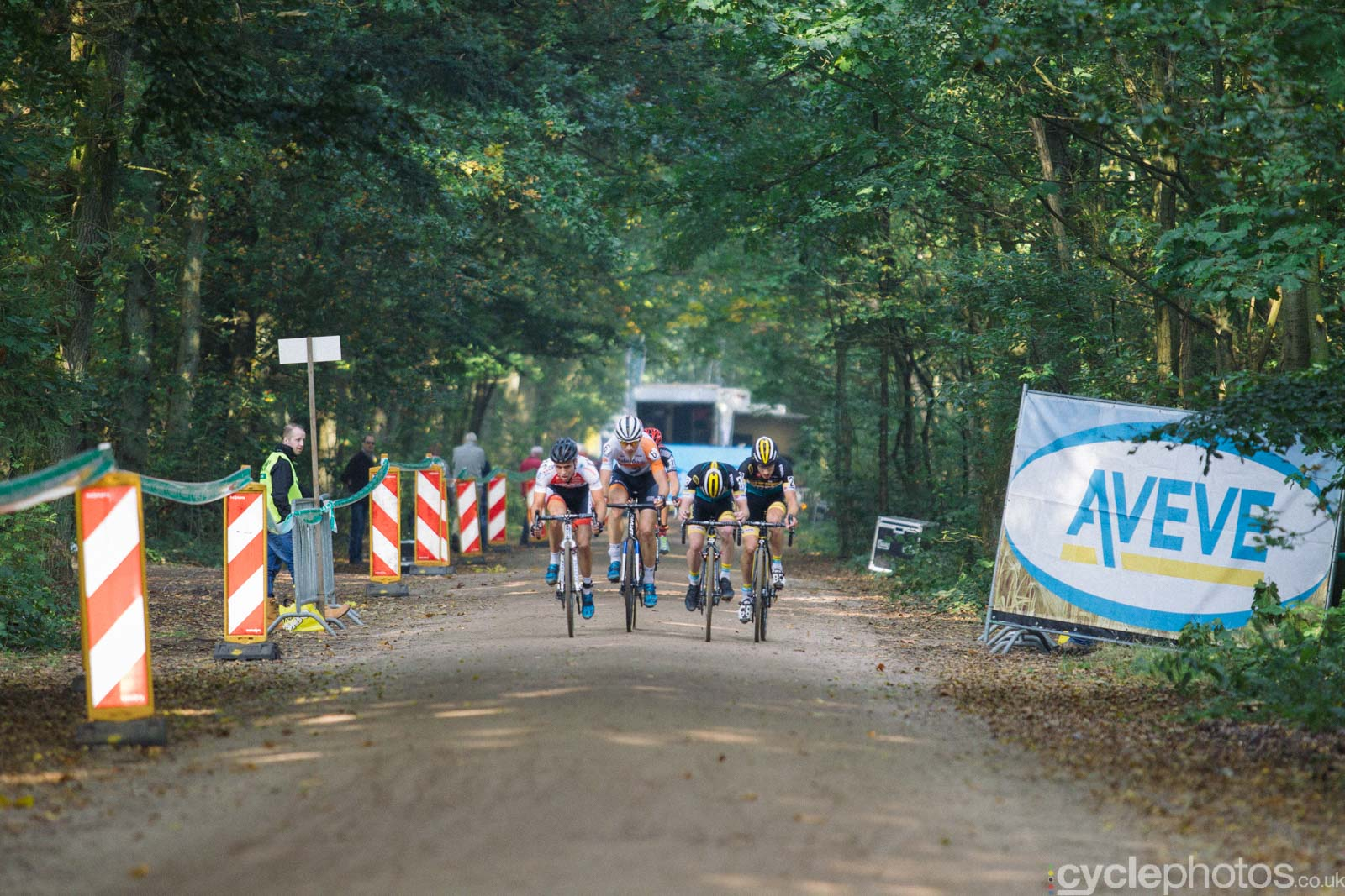 U23 Men jostle for position in the last lap of the Superprestige race in Gieten, The Netherlands. All rights reserved. �Balint Hamvas / Cyclephotos