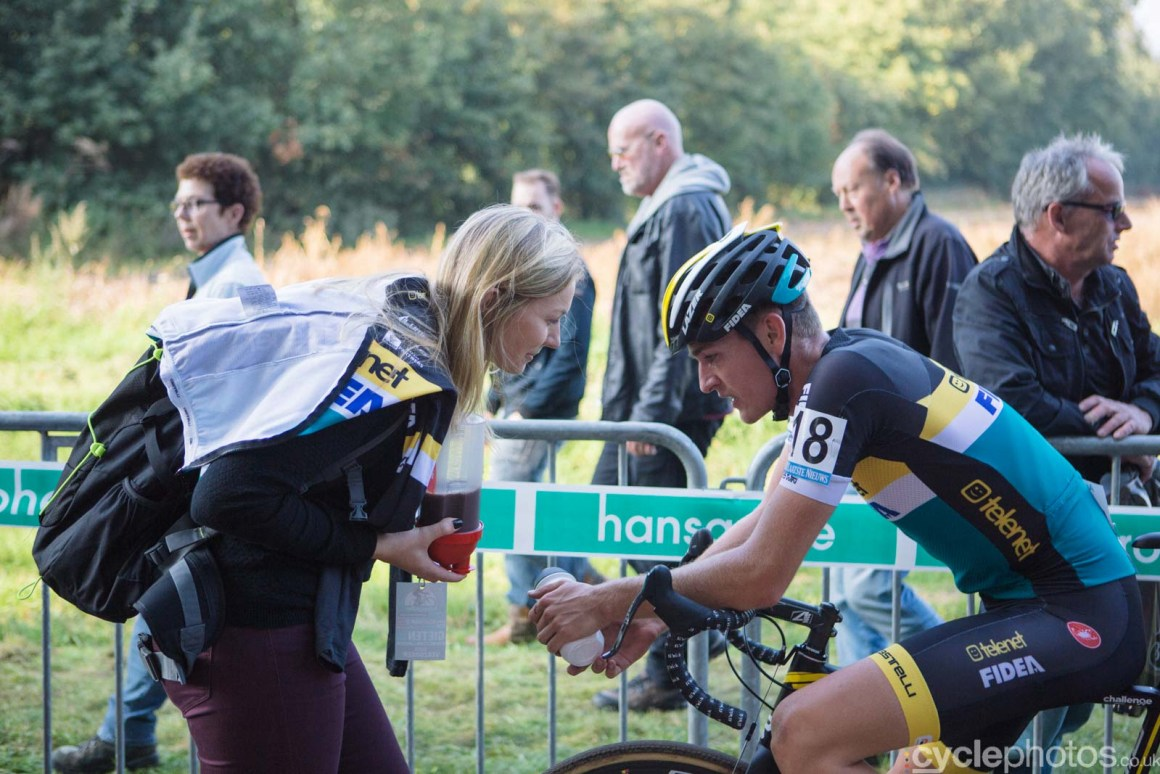 Toon Aerts catches his breath after the elite men's Superprestige race in Gieten, The Netherlands. All rights reserved. �Balint Hamvas / Cyclephotos
