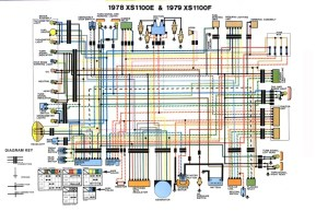 Wiring Diagram for Yamaha XS1100 19781979 – Evan Fell
