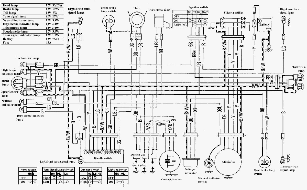 650 Yamaha Motorcycle Wiring Diagrams 78 Dt 100 Diagram
