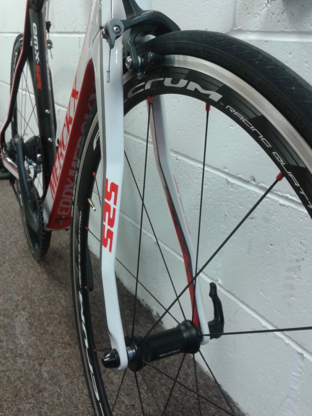 Fulcrum Racing wheels and Shimano Ultegra work well together. How many lines and angles can you see?