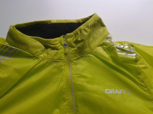 Soft collar, zip placket, reflective logos, DWR treatment and light as a feather, the Performance Featherlight from Craft ticks all the boxes