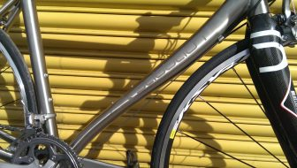 That Mondays Child downtube, shapely and effective