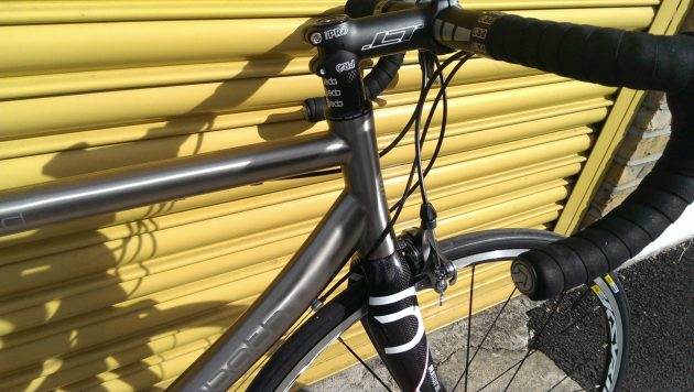 Sabbath's head tube and main tubes present a large surface area in order to provide solid welds