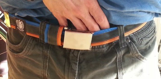Inner tube belt - green, looks good as well as holding your pants up