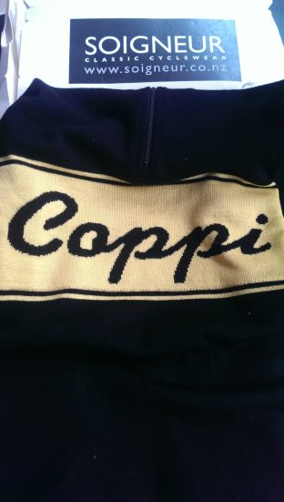 Soigneur Merino Jersey with Coppi knitted in design