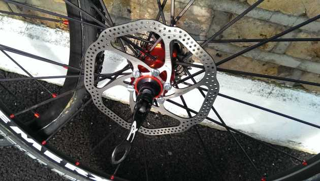 Quality of the Remerx rim and hub is high making rotor installation a breeze