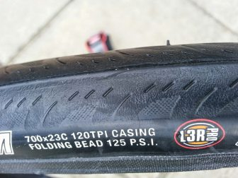 Kenda Kriterium info on the tyre itself - 23c, 120TPI and 125psi