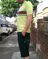 DeMarchi Tradition Campione Polo and Cargo Slim Short side view