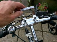 ...before being clamped by the same quick release lever.