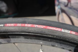 Wide 30mm pave tires for Vanmarcke