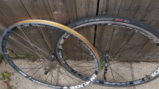If you are after a tubeless wheelset, then these may fit the bill...