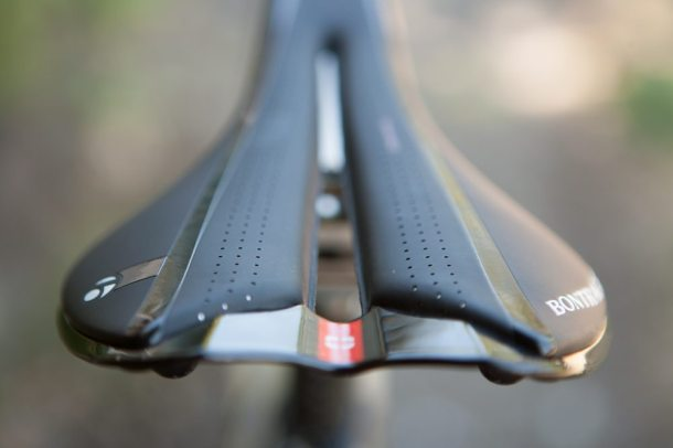 The Contour Relief Zone Plus channel on the Bontrager, for a more comfortable ride