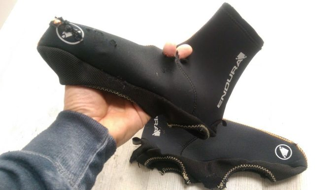 After a crash you'll be pleased you had overshoes on