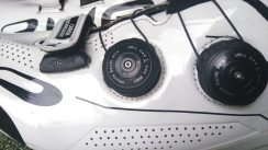 Ekoi use their own brand ATOP buckles on the R2. Its simple to use and can be adjusted on the bike
