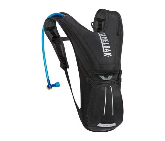 The Camelbak Rogue has a 2L resevoir and minimal storage to keep you riding light