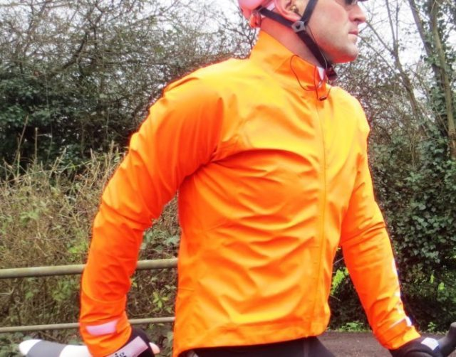 Jackets like POC AVIP Rain Jacket will keep the wet at bay and get you noticed
