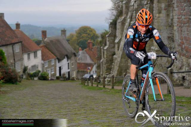 Riding up Gold Hill on the Wiggle  CX Sportive Gold Rush