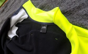 A mesh insert, combined with a flap over the shoulders, helps keep you from overheating