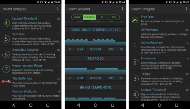 The Kinetic Fit app has a lot of sessions you can try, including some from Sufferfest