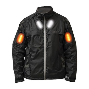 The Visijax LED Commuter Jacket should keep you dry and safe on your night time commute
