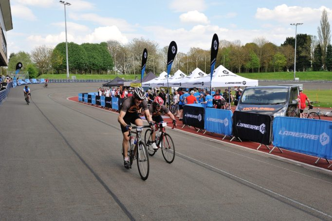Journey's end and riders sprint over the line for bragging rights