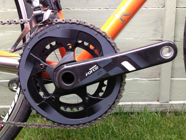 The test bike came with a SRAM  Force groupset, but with a custom bike, you get to choose what goes on yours