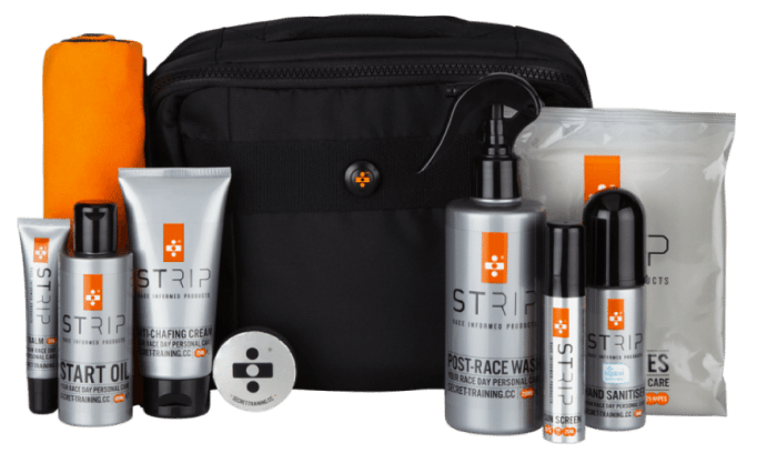 Secret Training's handy pack will keep you sweet smelling and chafe free