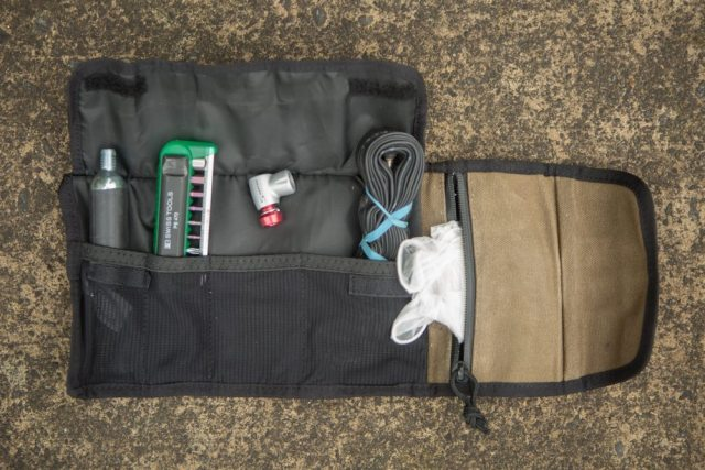 Separate pockets help keep everything in it's place
