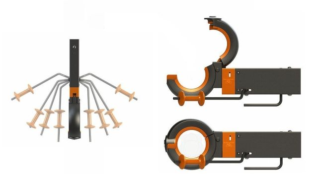 Nylon and steel are used in the body of the Hangman's construction along with rubber jaws to prevent marking your frame