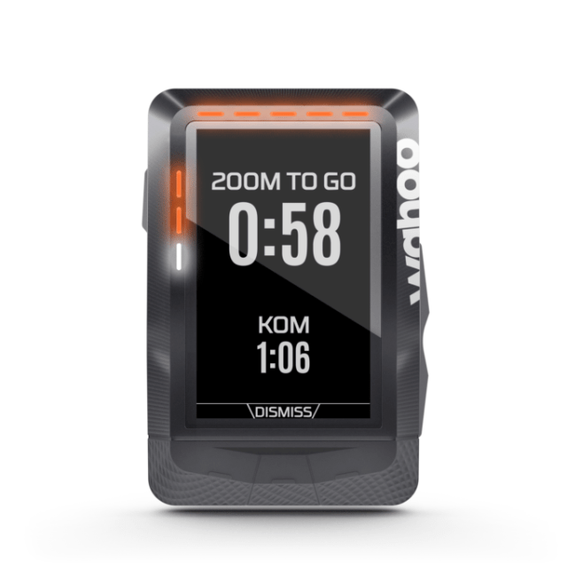 Keen Strava hunter? The the ELEMNT will let you know when you're on for a PB