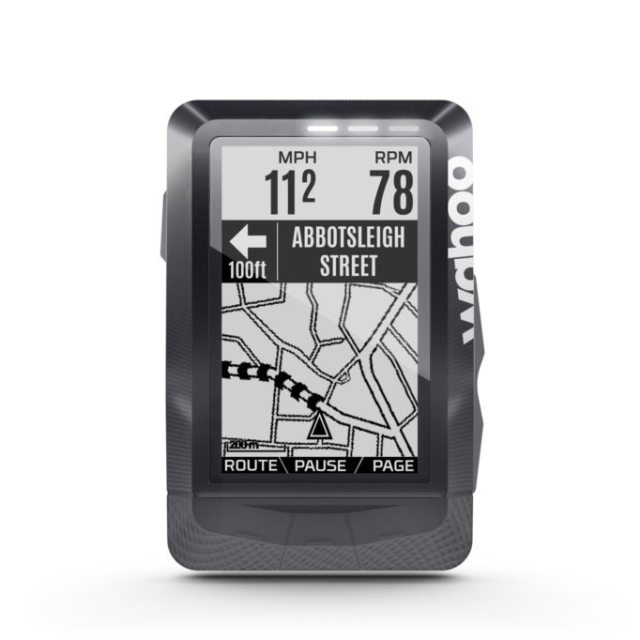 The screen display is easy to read and the ELEMNT also uses it's LEDs to warn of upcoming turns