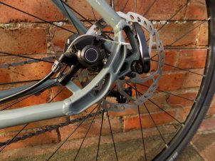 Shimano's cable operated disc brakes are on braking duty