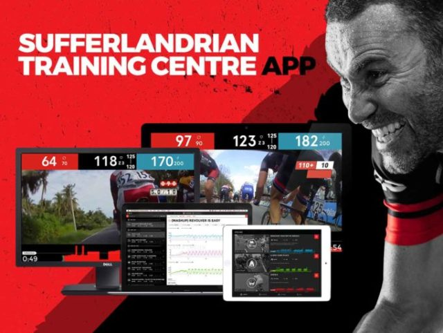 The Sufferfest App brings the training video up to date, by working with your smart trainer