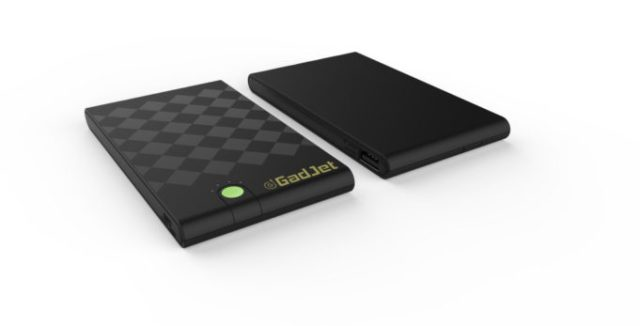 The Gadjet Portable Power Bank is designed to be powerful yet compact enough to easily fit in your bag or pocket