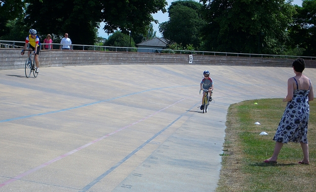 Another future gold medalist takes his first steps at Herne Hill. Photo courtesy of Paul Wilkinson