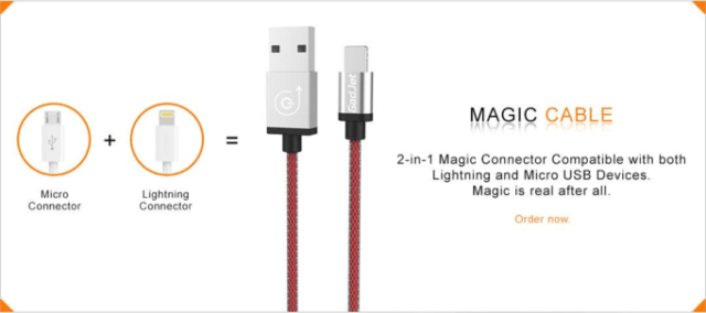 One pin for both your Lightning and Micro USB devices