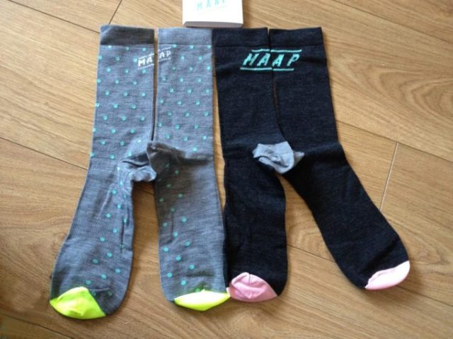 Merino Dot and Type socks from MAAP adding an Antipodean flavour to your sock game!