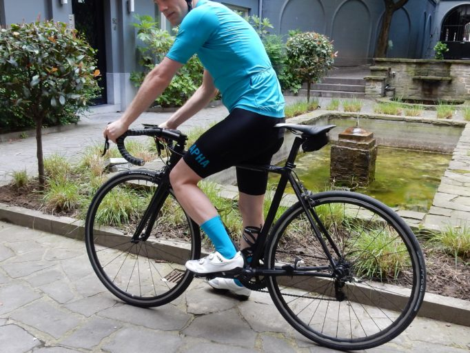 The Rapha Pro Team II jersey and bib shorts get ready for some testing 2b68029b5